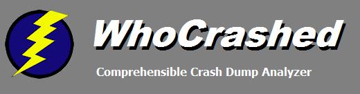 Resplendence Software - WhoCrashed, automatic crash dump